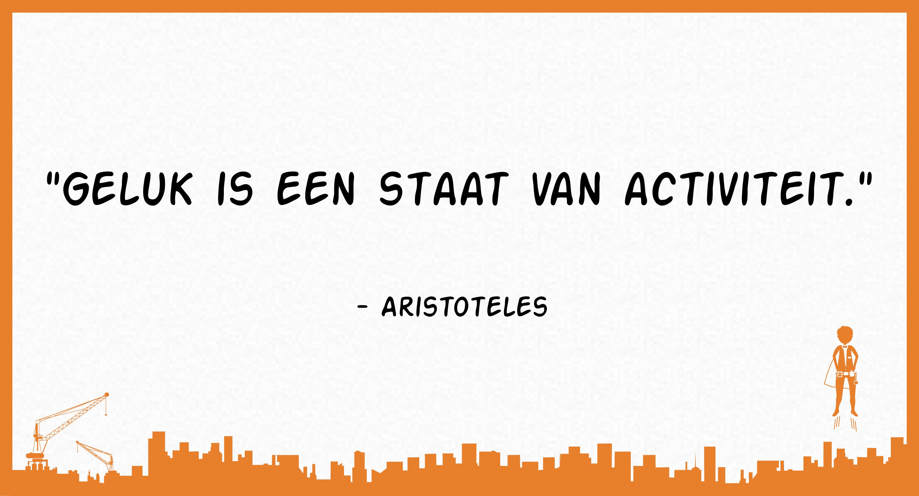 Geluk is een staat van activiteit (Aristoteles)
